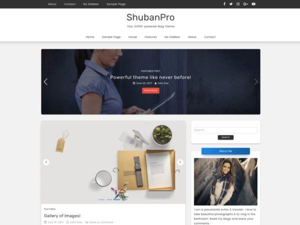 Shuban Pro - Premium WordPress Theme
